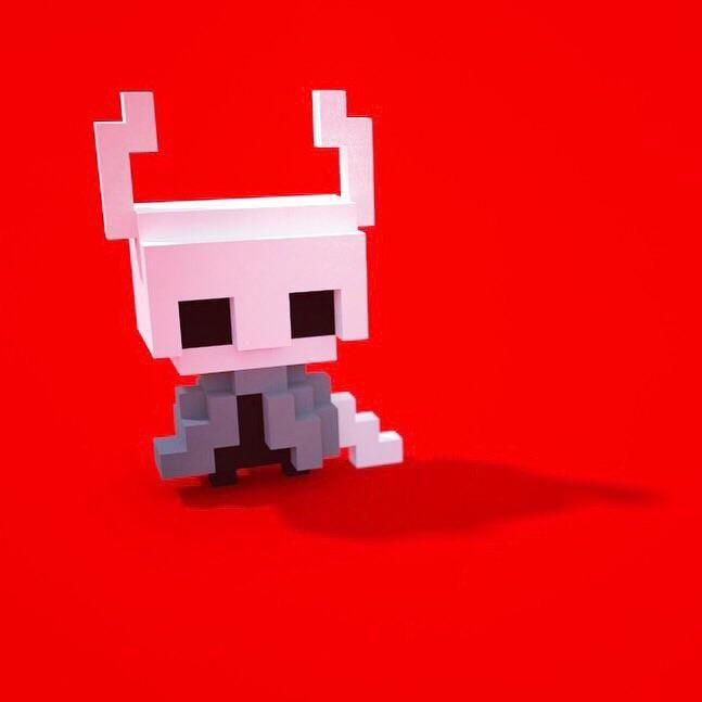 [FanArt] Made a 3D pixel hollow knight Pixel art, 3d