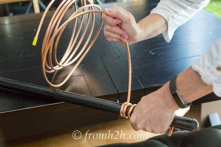 Diy Rain Chain 2 Ways To Make A Beautiful Copper Rain Chain Gardening From House To Home Copper Diy Rain Chain Diy Copper Rain Chains
