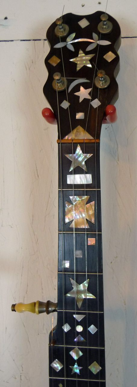 joseph ricketts banjo philadelphia circa 1890 heavy inlay banjos and other sweet noise makers. Black Bedroom Furniture Sets. Home Design Ideas