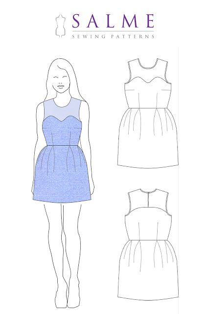 Salme Sewing Patterns | nähen | Pinterest