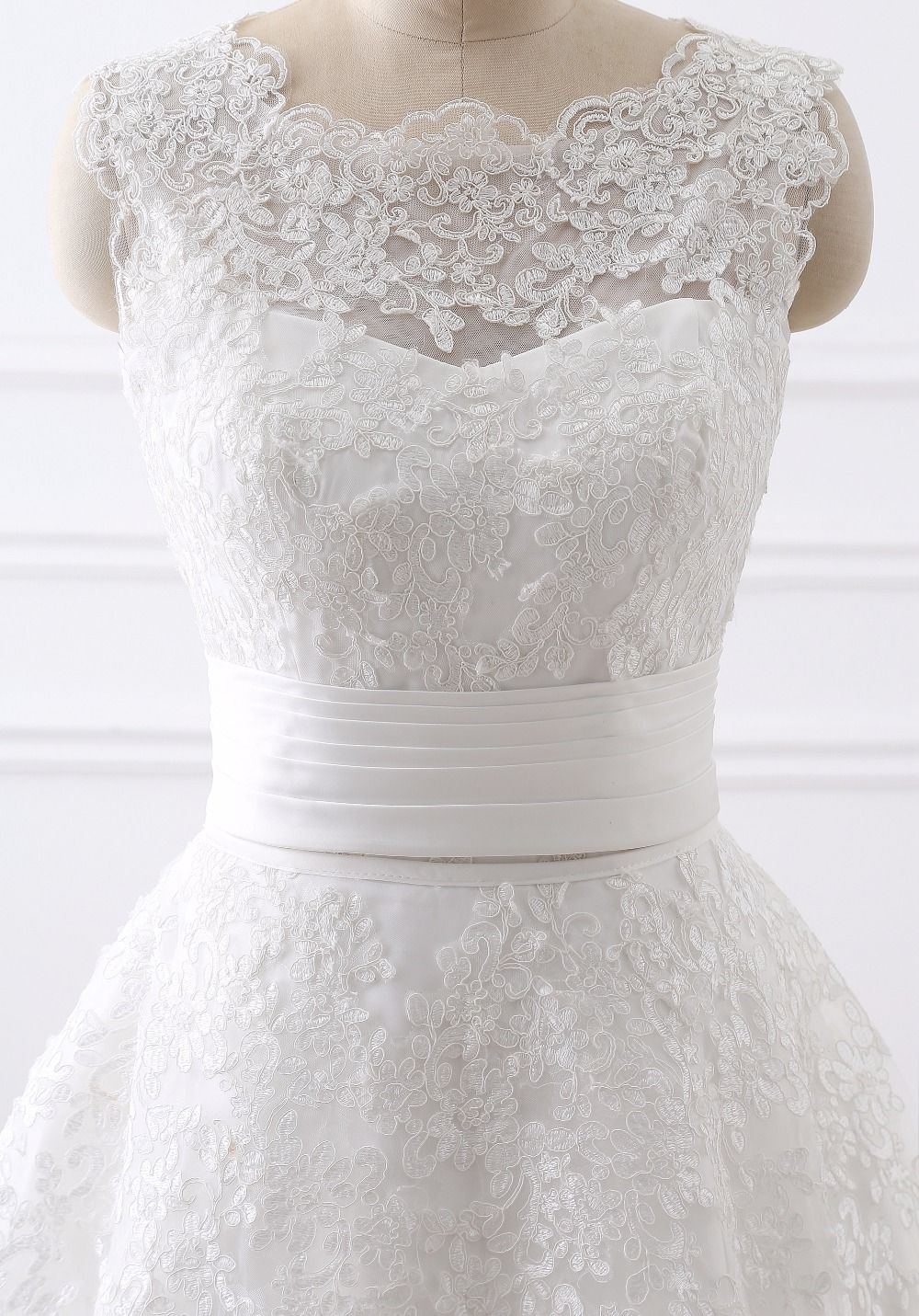 Elegant 2 In 1 Lace Wedding Dress Detachable Skirt High Neck Two Pieces A Line Uniqistic Com Wedding Dress Detachable Skirt Removable Skirt Wedding Dress Wedding Dresses [ 1431 x 1000 Pixel ]