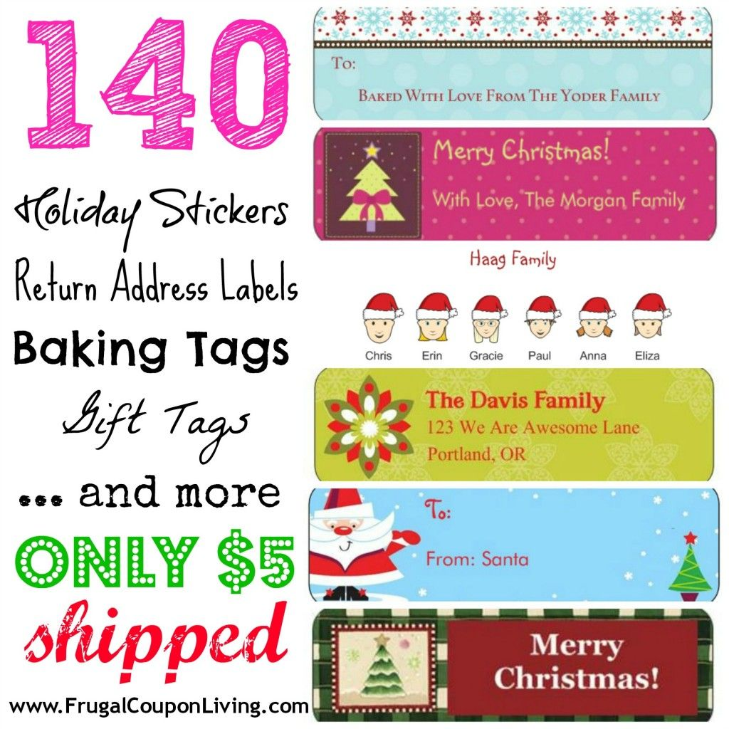Hot Deal 140 Holiday Return Address Labels 5 Shipped Great Ideas Address Label Template Return Address Labels Template Address Labels Holiday return address label templates