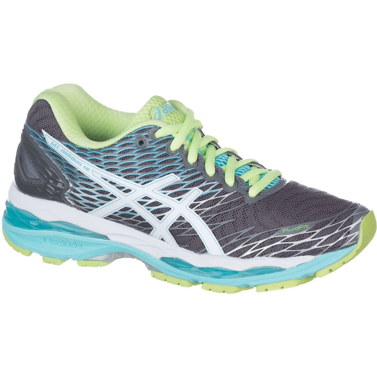 Asics GelNimbus 18 Narrow Running Shoe Titanium/White/Turquoise 6 5