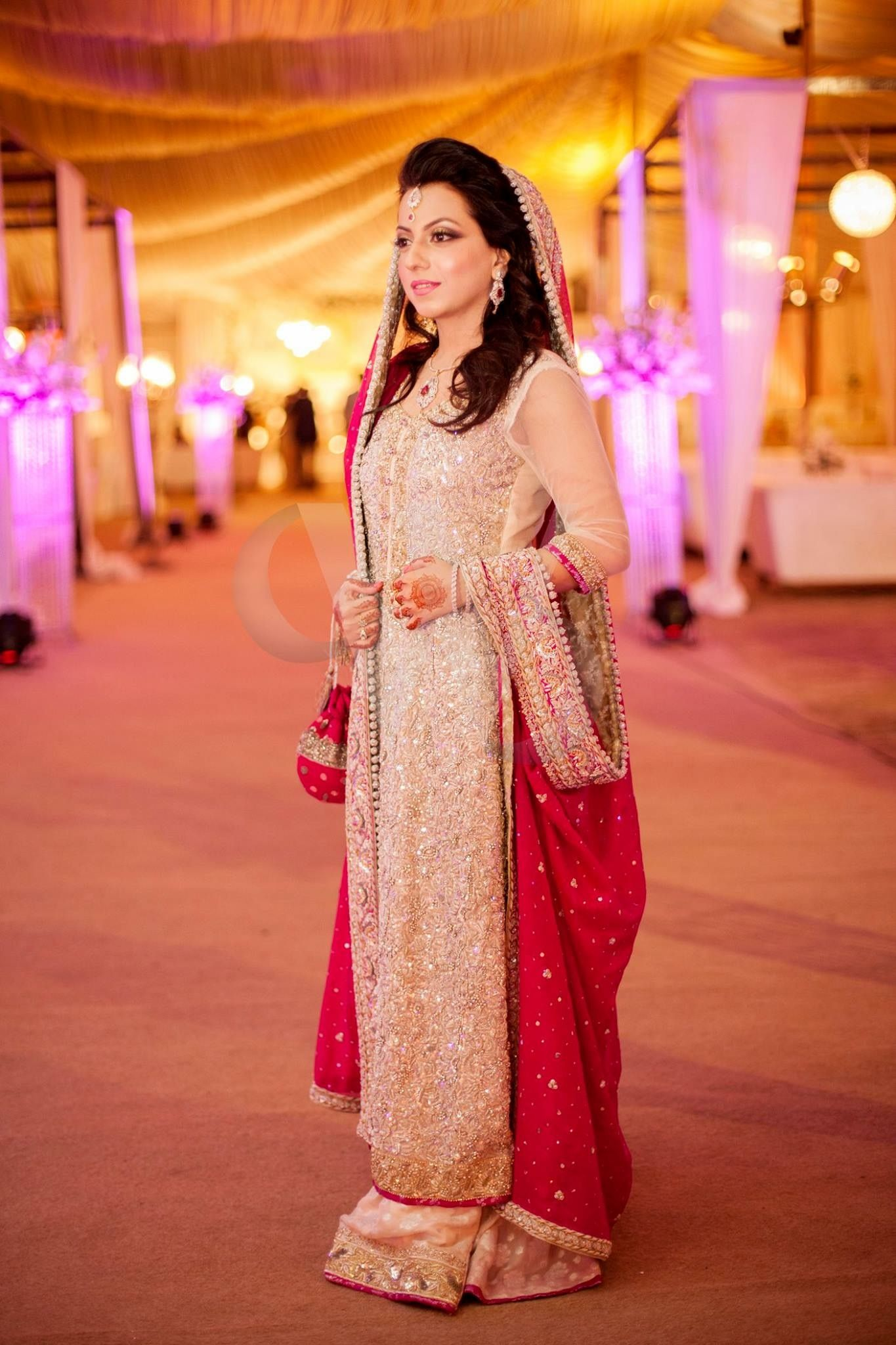 South asian wedding dresses  Pin by Syedaghania Fatima on Baat pakiEngagement nikkah dresses