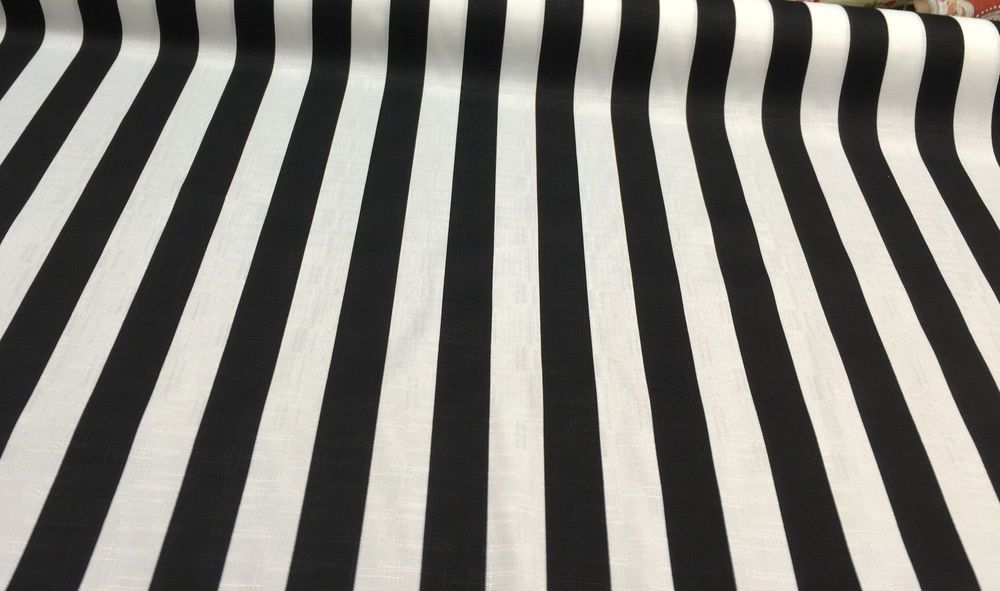 Solarium Outdoor Cabana Stripe Black White Fabric By The Yard Ebay Black And White Fabric Outdoor Cabana Outdoor Fabric
