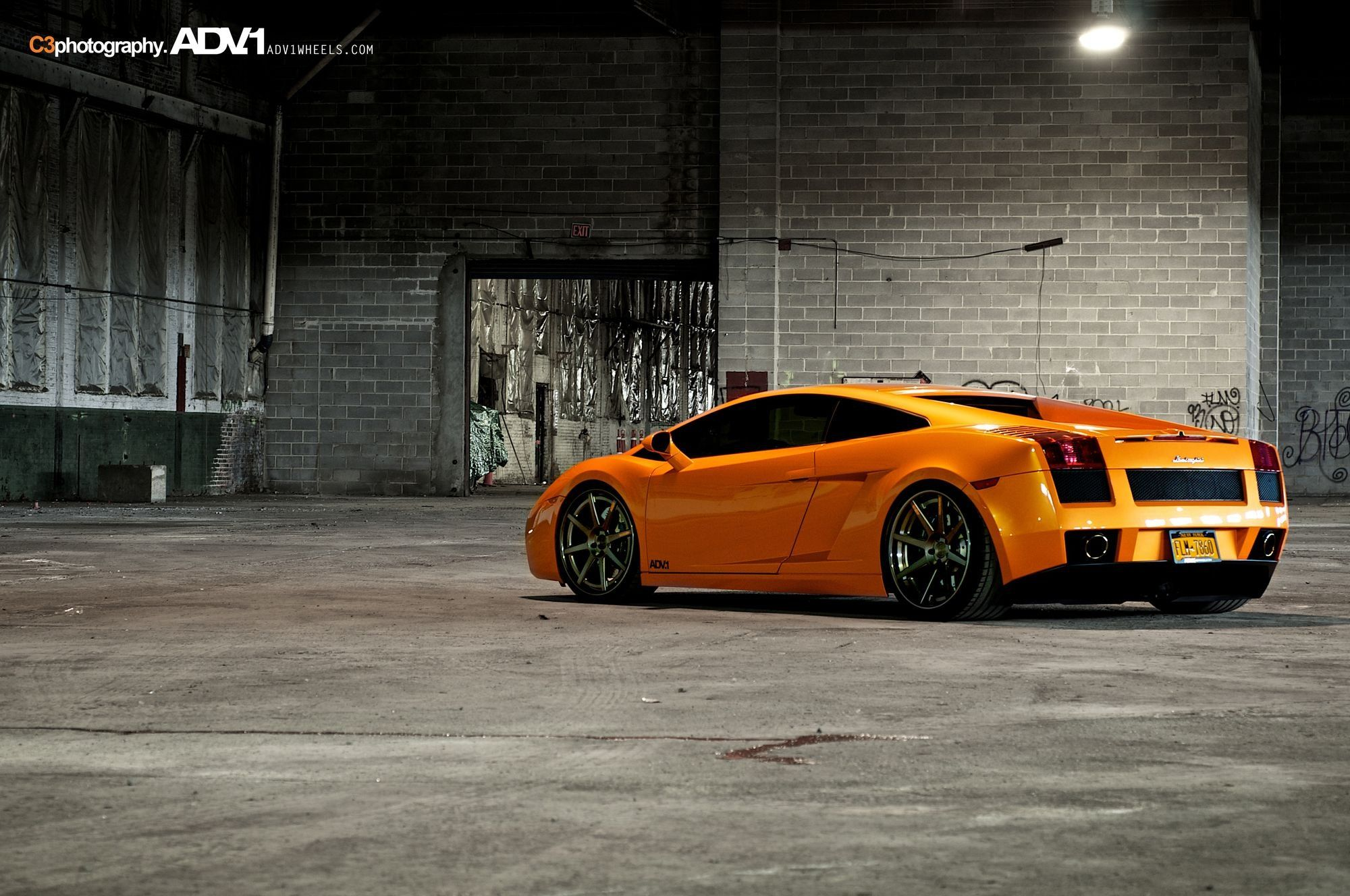 Luxurious Lamborghini Gallardo Rolling On Adv1 Custom Wheels Car