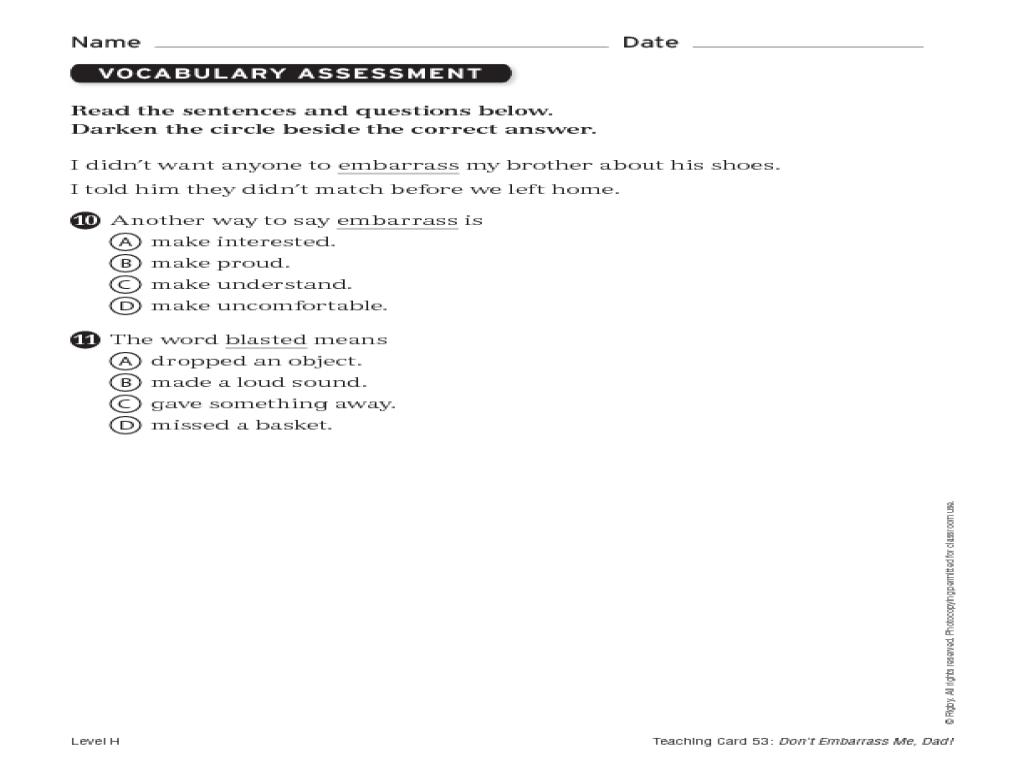 Steck Vaughn Phonics Assessment