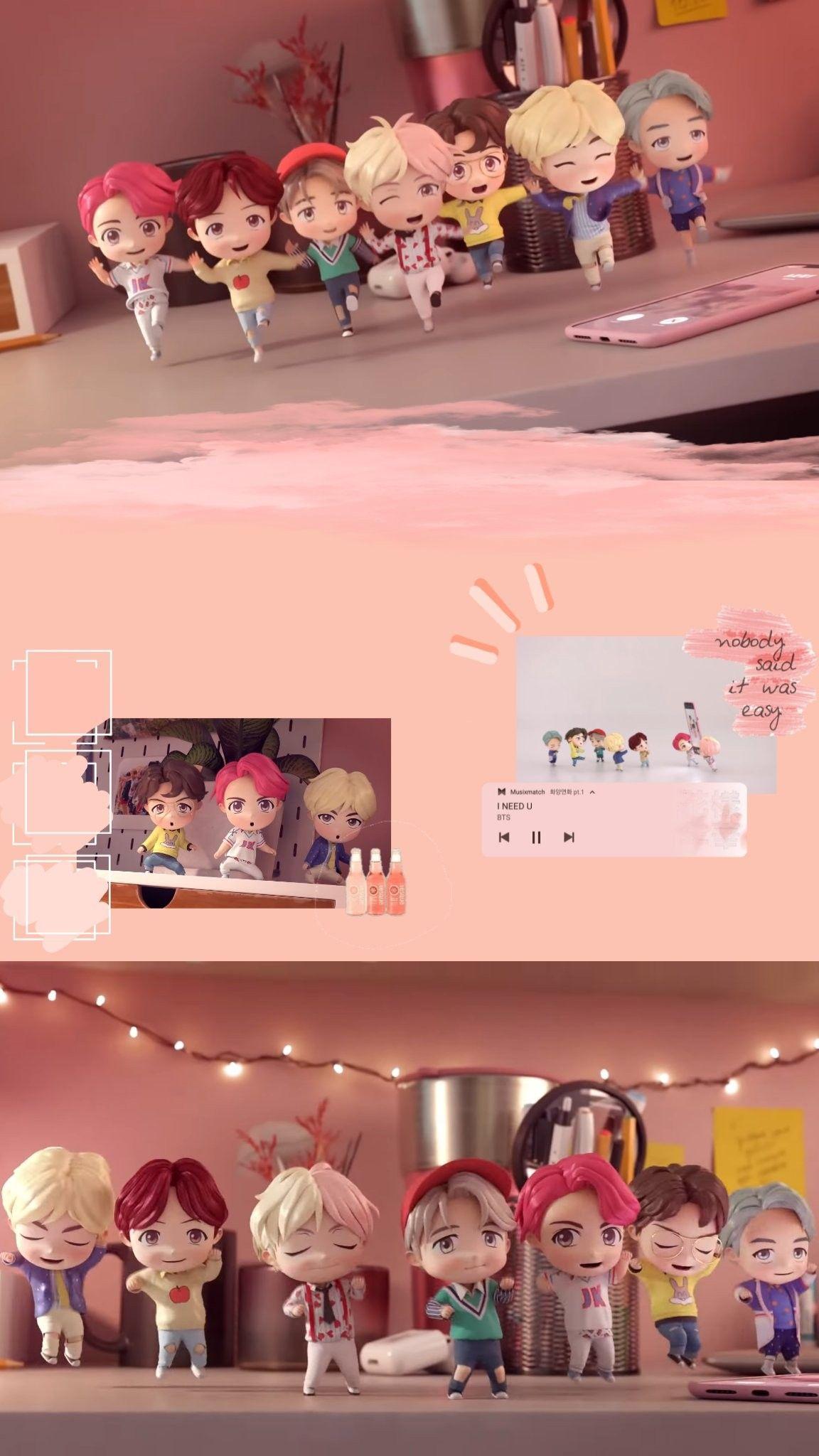 Chibitan Sonyeondan Kartun Wallpaper Ponsel Animasi