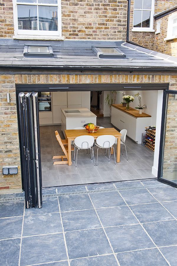 bi-fold doors kitchen House Extensions Pinterest Pisos