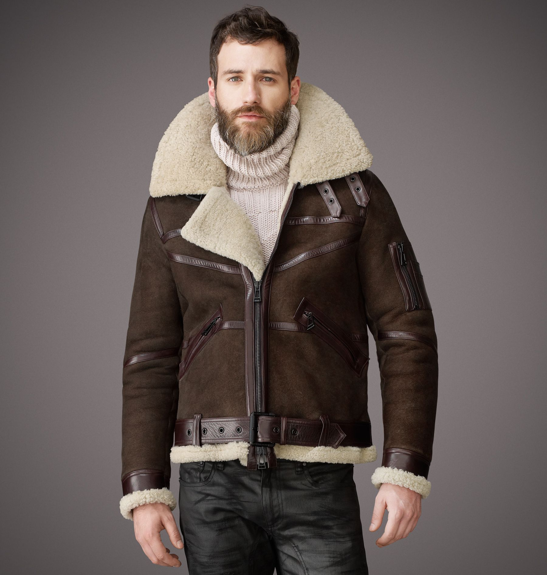 Belstaff Bridlington Jacket Shearling Jacket Made in Italy ...