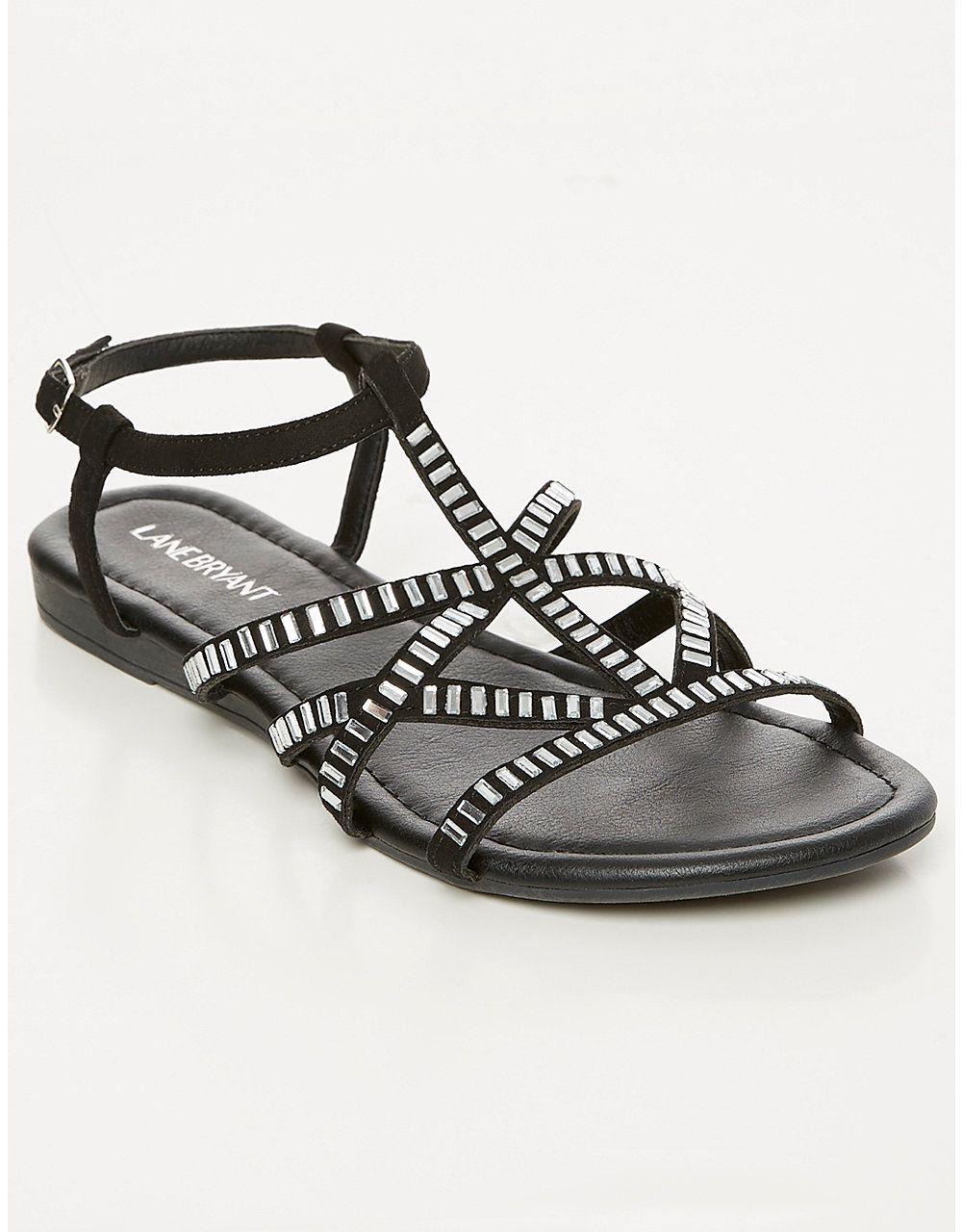 4743be758ec Bling Flat Sandal