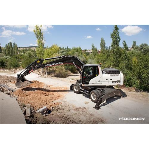 Wheel Excavators Hidromek Ankara City Turkey Excavator Fuel Economy Gps Tracking System