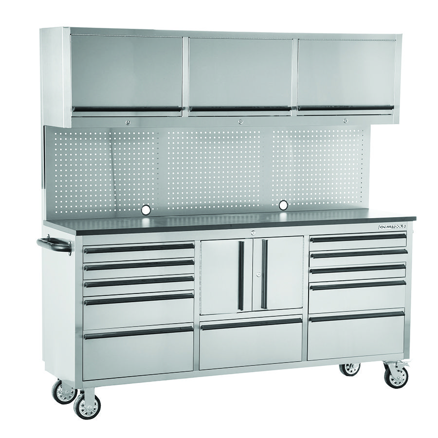 The OEMTOOLS™ Stainless Steel 72 Inch Cabinet Toolbox will allow you ...