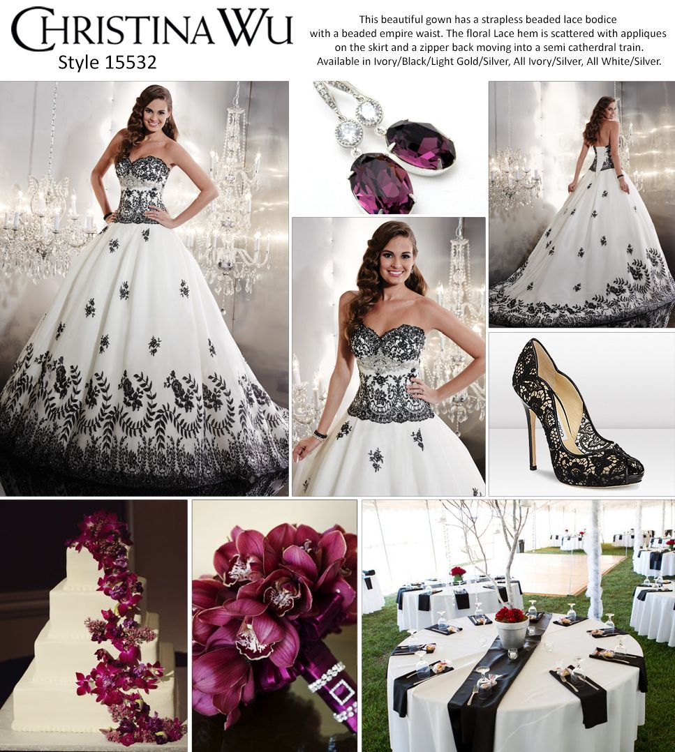 Black and gold wedding dresses  Style  available in black lace applique is stunning and