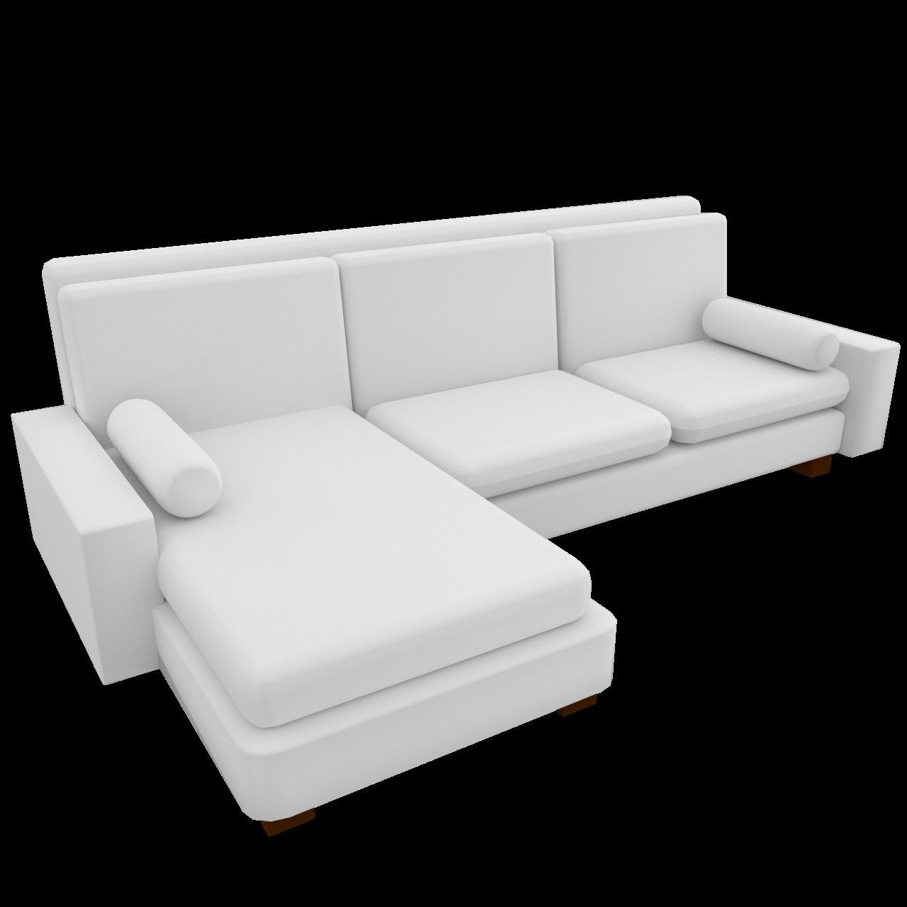 3d l shaped couch sofa uv model