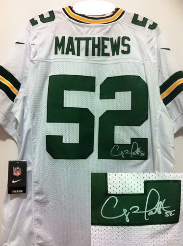 Nike Packers  52 Clay Matthews Signed White Mens NFL Elite Jersey ... 0cd0d1aee