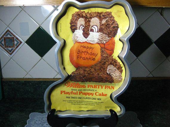 Vintage Wilton Cake Pan Wilton Playful Puppy Cake Pan Wilton cake