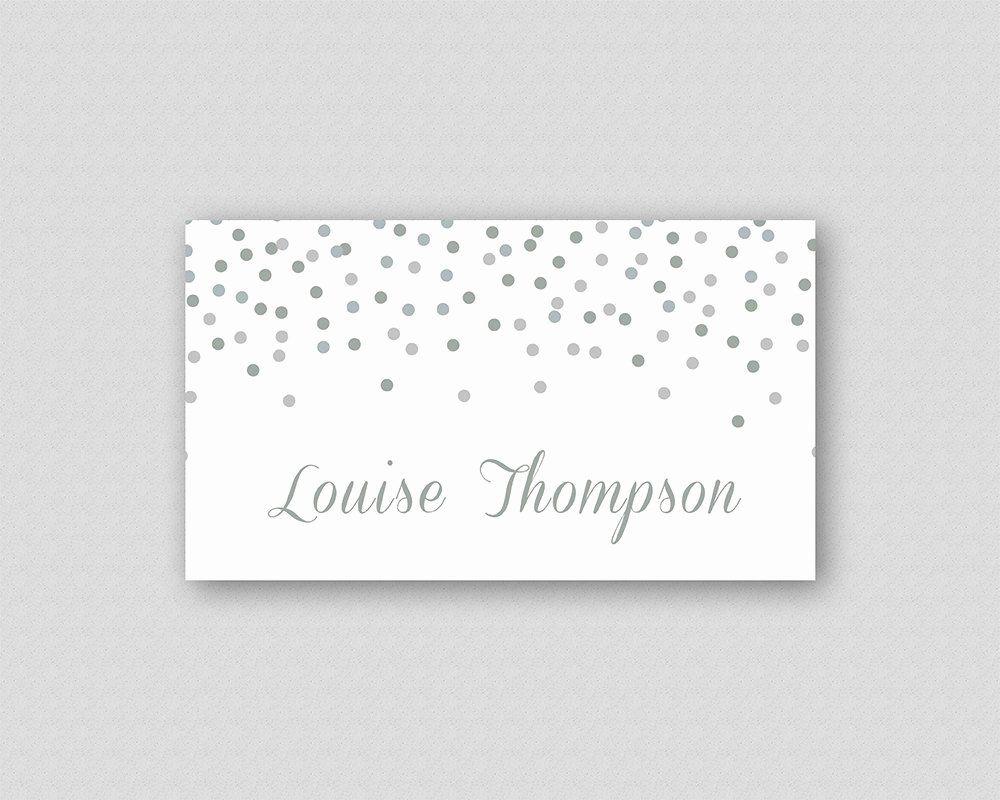 Place Cards Template 6 Per Sheet Unique Silver Glitter ...