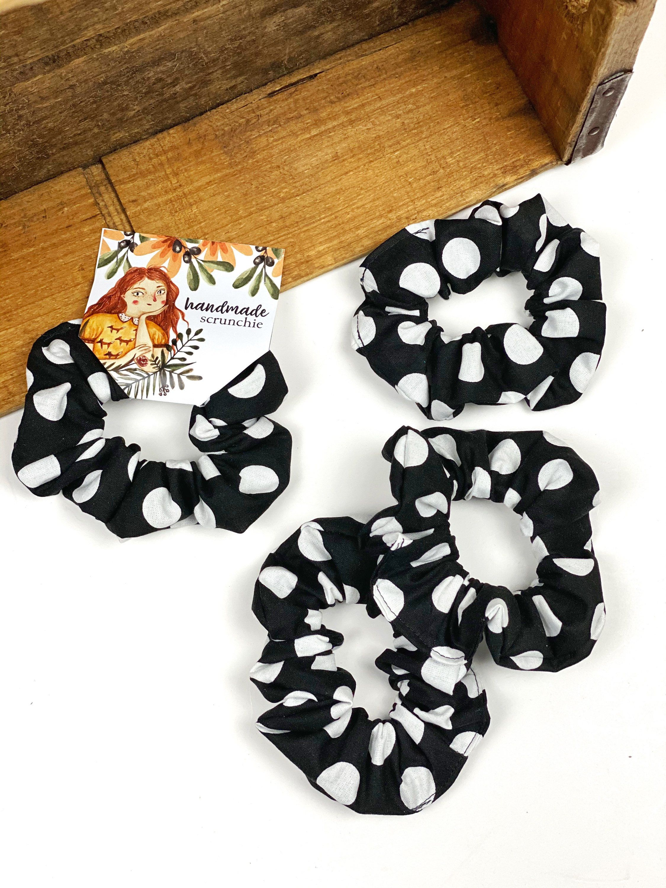 Animal Print Hair Scrunchie / Hair Scrunchies / 100% Cotton Scrunchie / Fabric Scrunchies / Elastic Ties Bands Hairbands Ponytail Holder