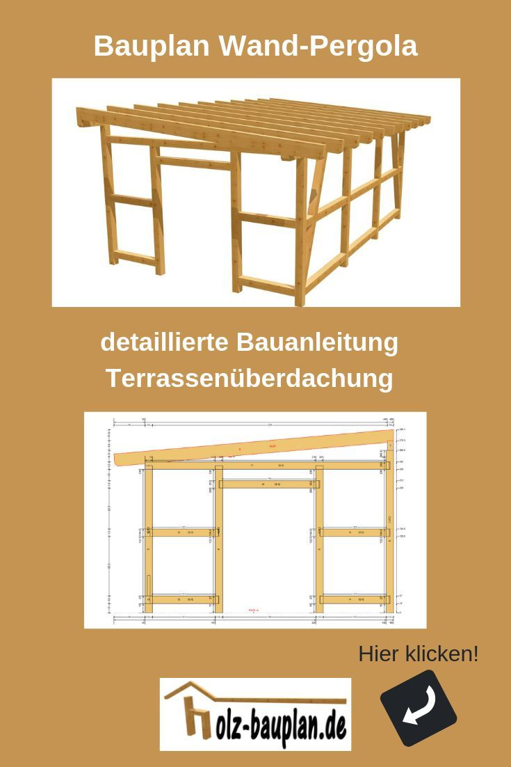 Pergola Bauplan PDF, sofort download, individuell erstellt