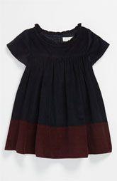 Burberry Colorblock Corduroy Dress (Infant)