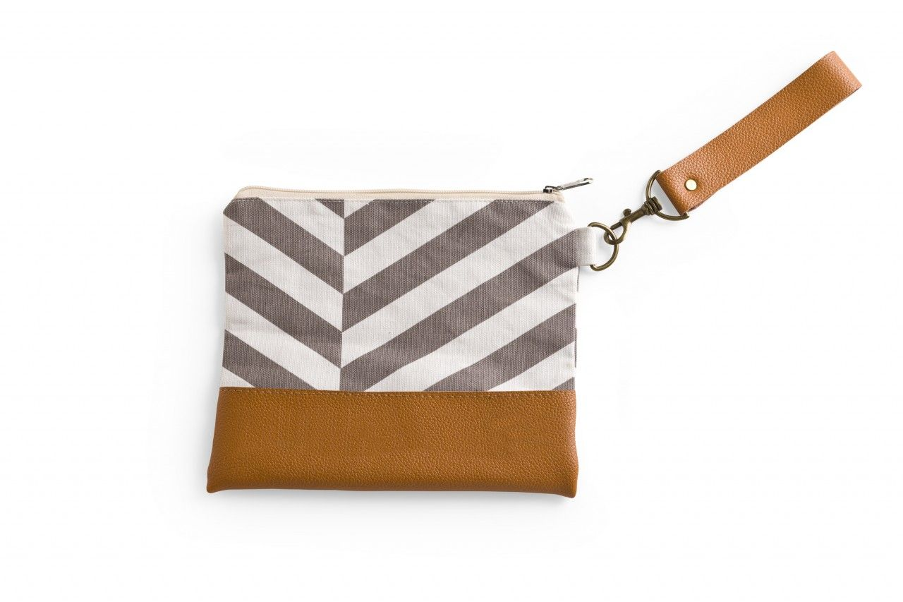 Fabric with Leather Pouch - Rosanna Inc $24
