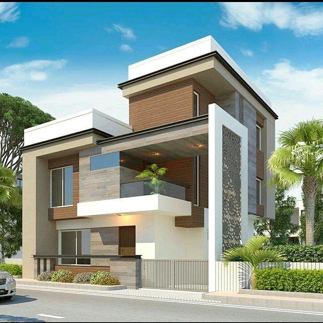 Modern Residential Exterior By Ar Sagar Morkhade: Escalier En Herbe Et Haie De Grande Plantes
