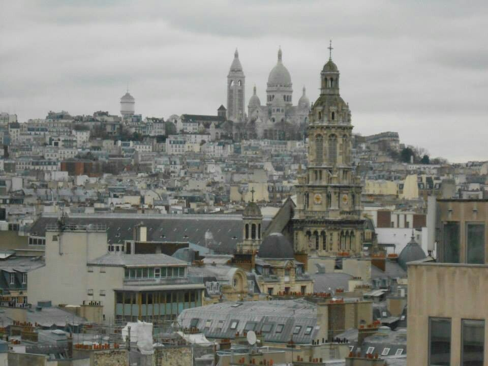 From the top of Galeries lafayette - Sacre coeur Montmartre