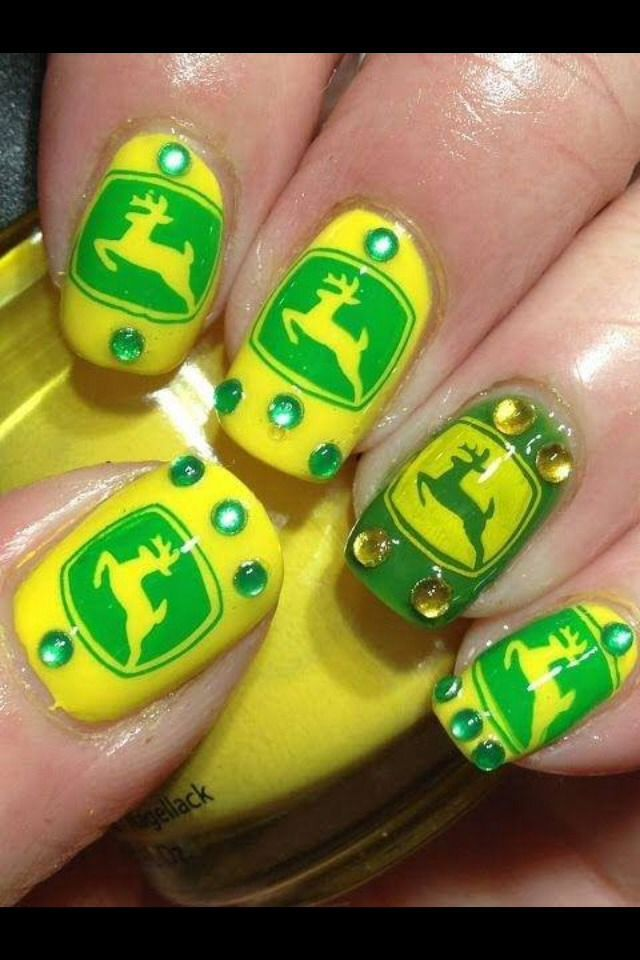 Country Nails Love John Deere   Nails   Pinterest   Decoración de ...
