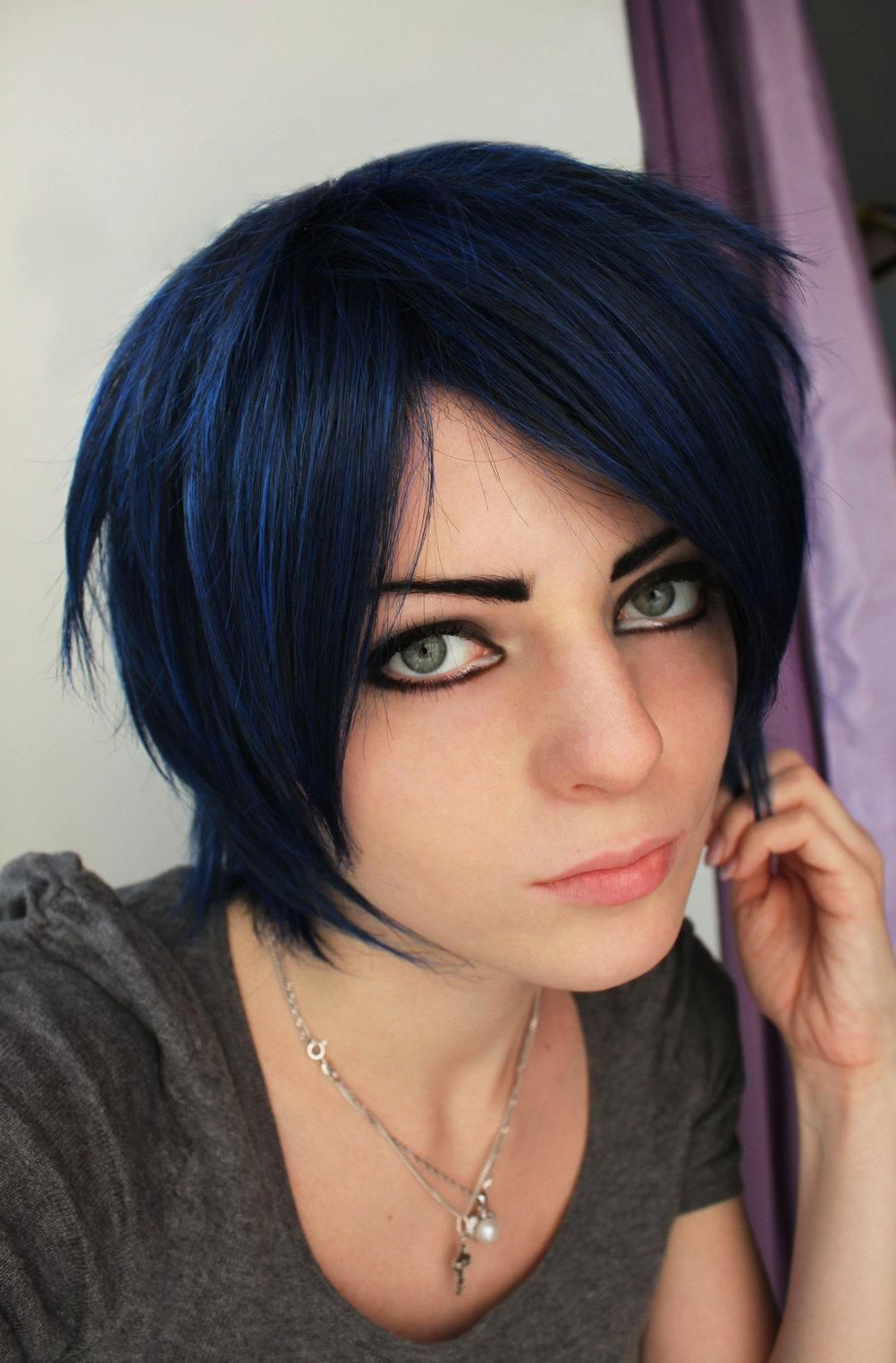 Blue Black Hair Hair Color For Black Hair Black Hair Dye