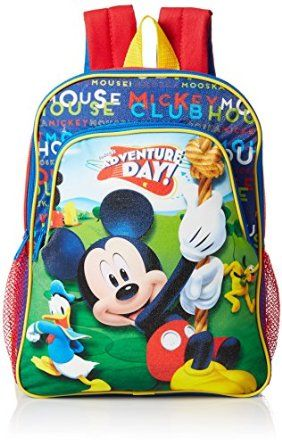 9dfbe4b3ccf Disney Boys  Mickey Mouse Toddler Backpack