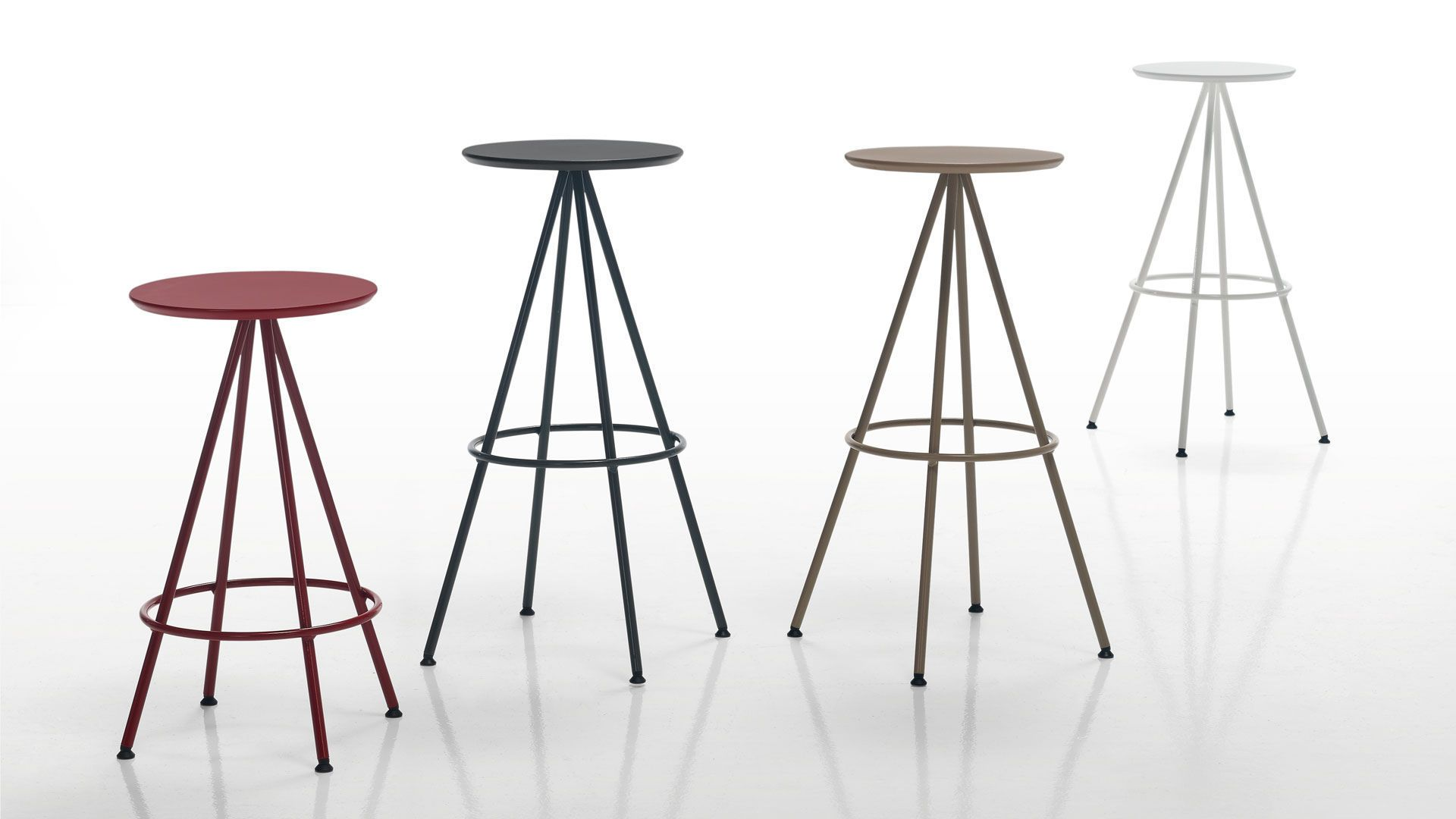 Bar stool / contemporary / MDF / steel SUN INCLASS MOBLES