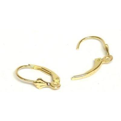 Earring Findings 2 14K Yellow Gold Lever Back Earrings