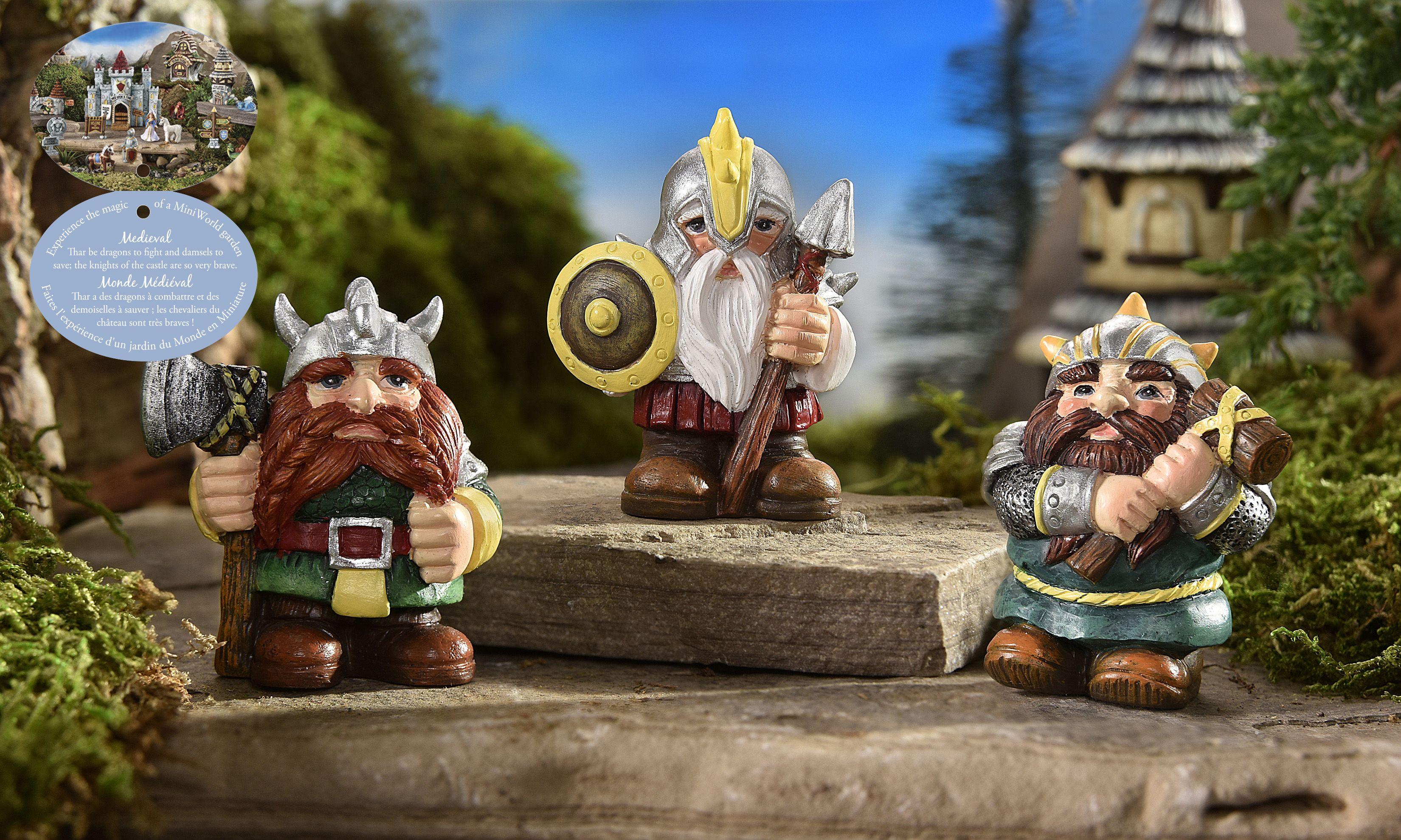 Giftcraft - Mini World Medieval Times Viking Design Figurine, 3/Asst ...
