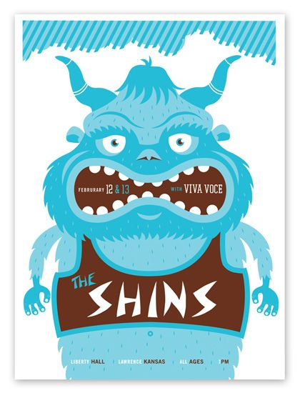 Flatstock poster for the Shins
