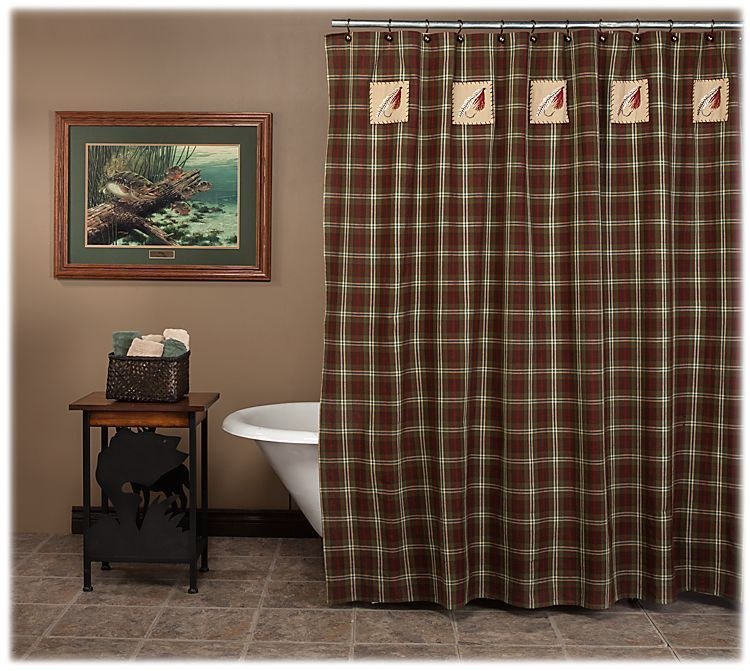 Park Designs Fly Fishing Shower Curtain | Bass Pro Shops: The Best ...