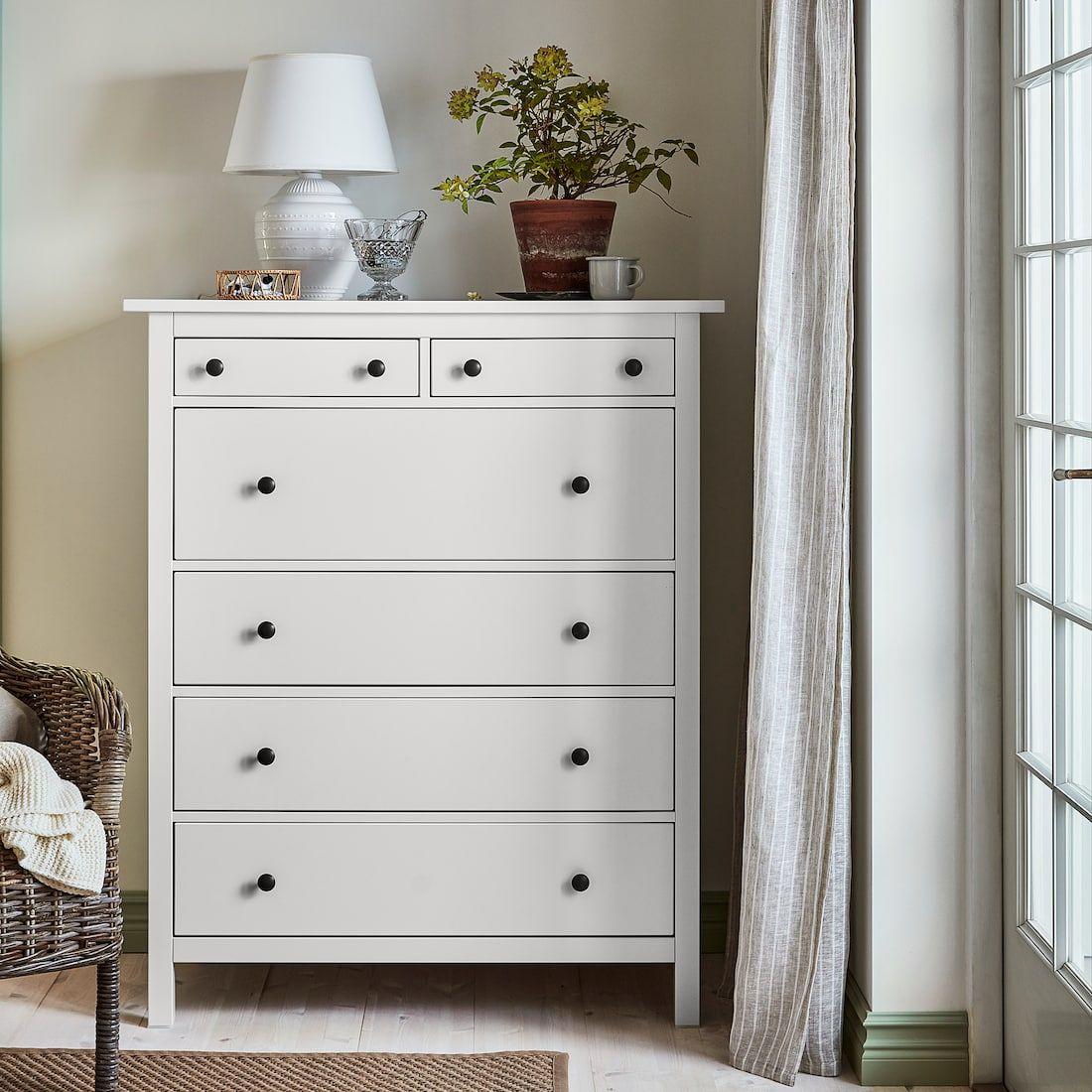 IKEA HEMNES White 6drawer chest Hemnes, Chest of