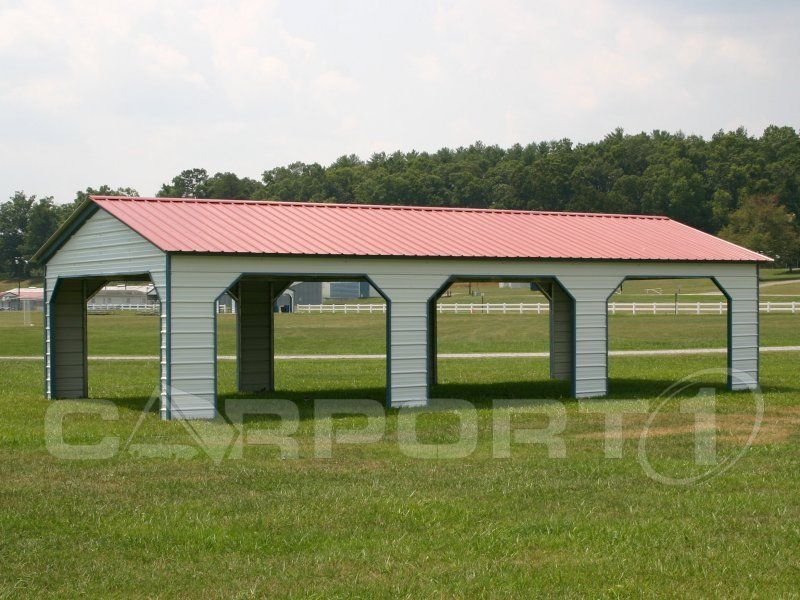 Sideentry carports are ideal for park picnic shelters and