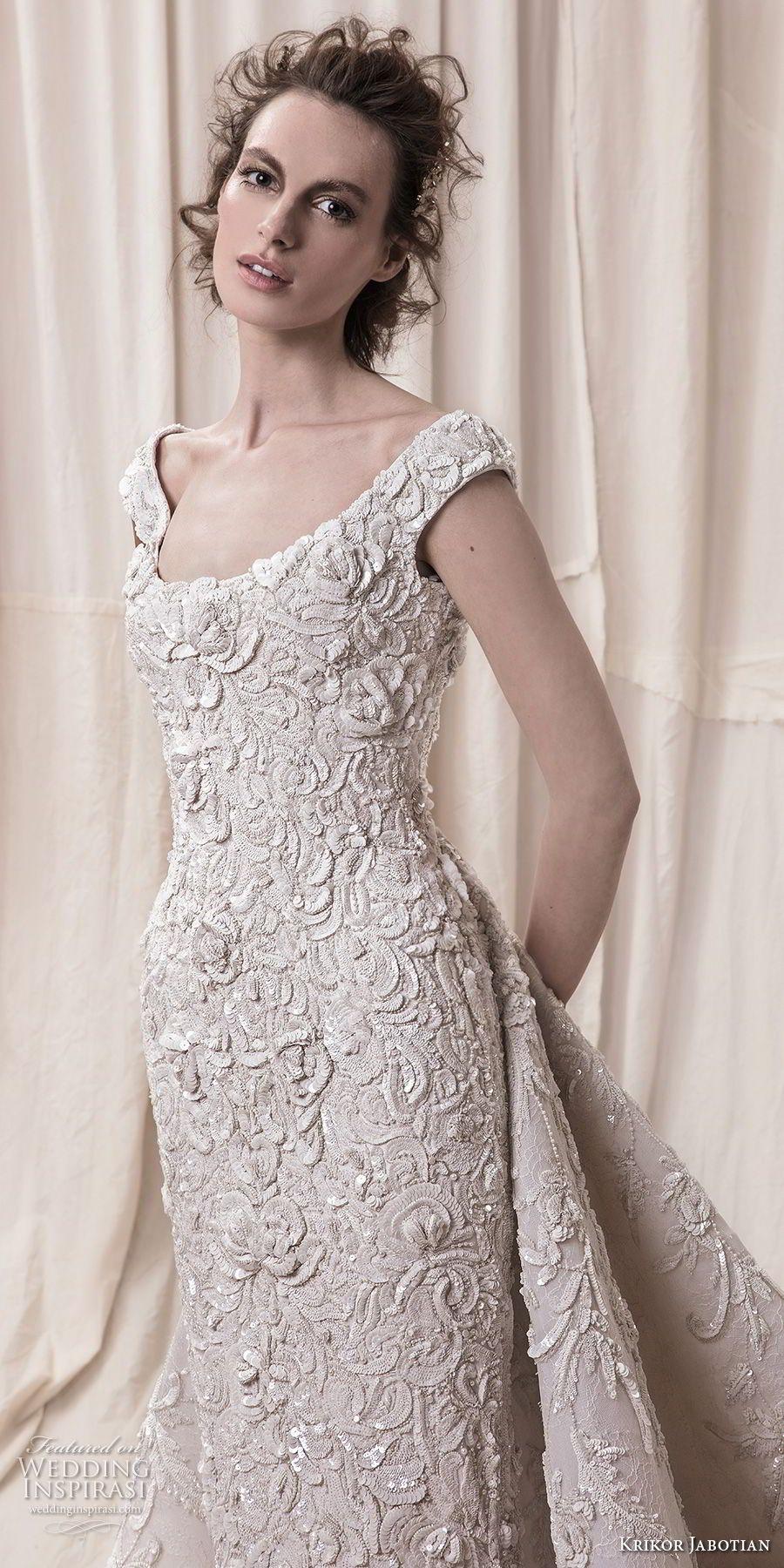 Krikor Jabotian Spring 2018 Wedding Dresses | Chapel train, Wedding ...