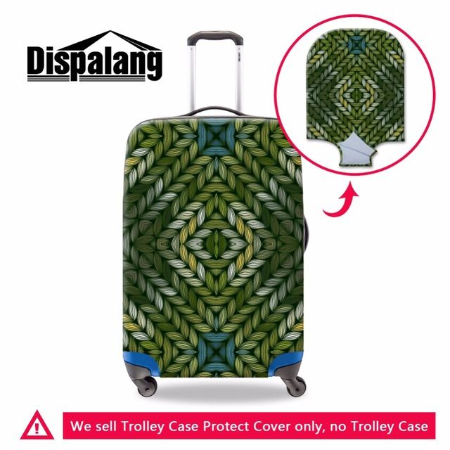 Dispalang Personalized Striped Printed Luggage Protective Cover Zipper Spandex Floral Suitcase Cover Skull Travel Accessories