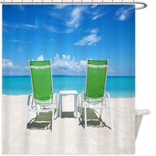 Beach Chairs Shower Curtain 123R