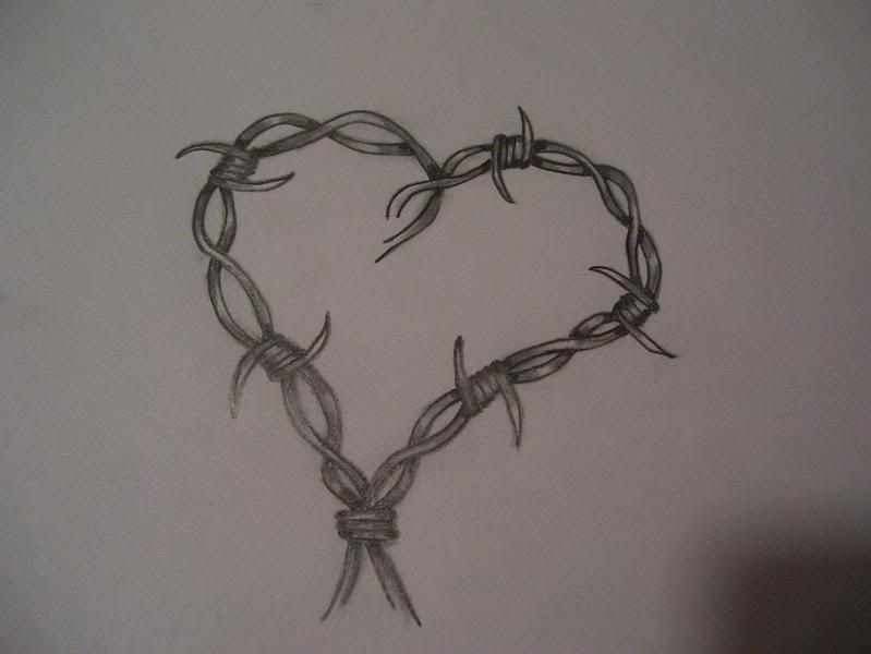 barbed wire heart   barbed wire heart photo barbedwireheart.jpg ...