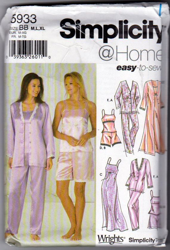 Simplicity 5933 Misses Lingerie and Lounge by OnceUponAnHeirloom ...