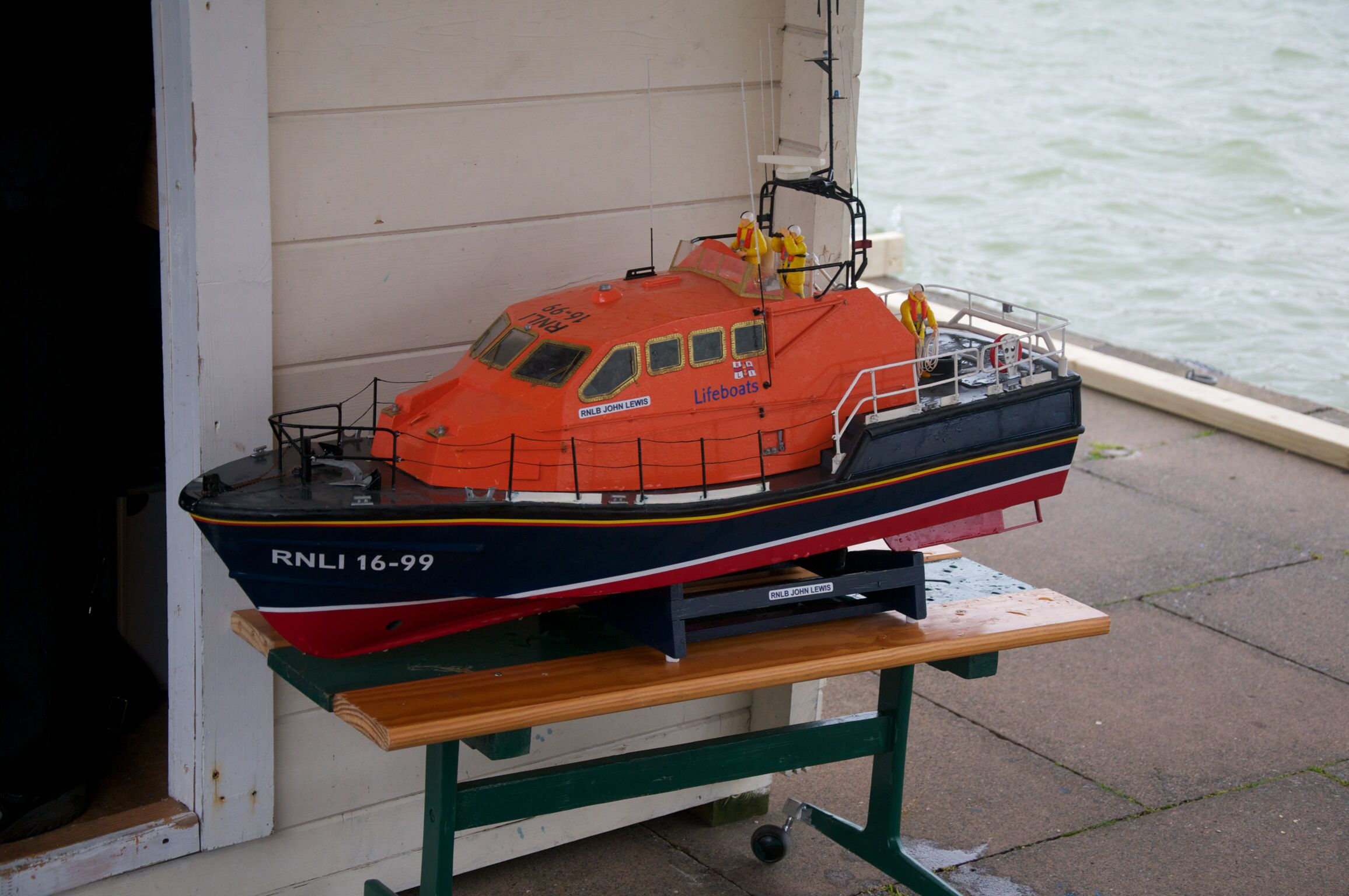 Scratch built RNLI Lifeboat, built by one of the members ...