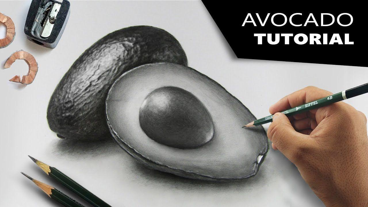 5ebdefe80 Draw Hyperrealistic AVOCADO | Step-by-step Tutorial - YouTube ...