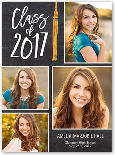 chalkboard tassel 6x8 graduation announcements cards products
