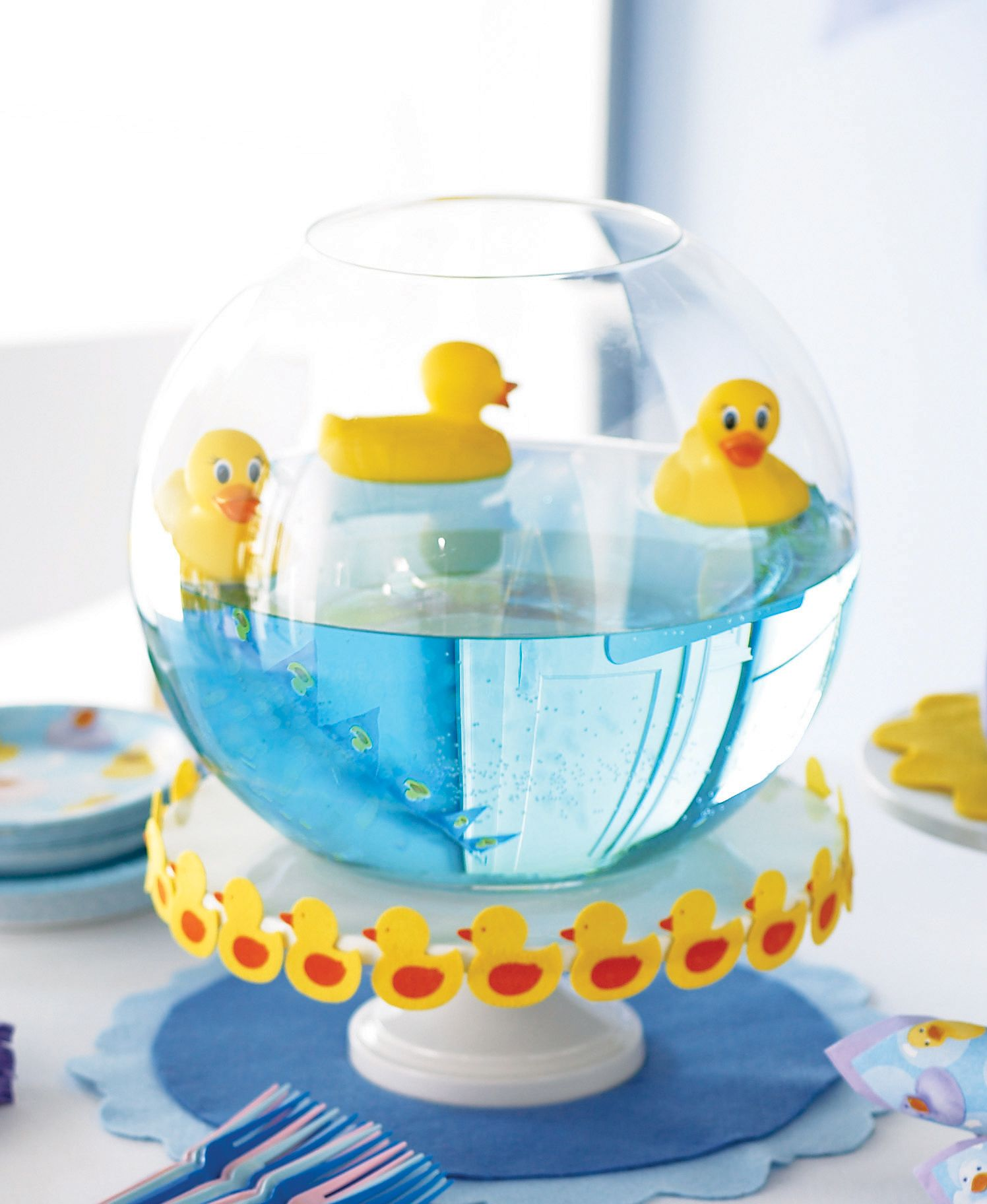 Little Ducks Table Centerpiece Idea.