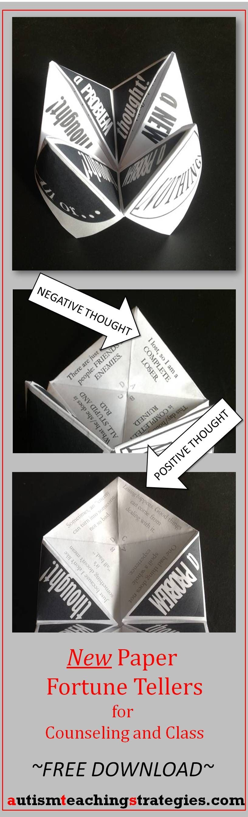 Paper Fortune Teller, one of a new set of 3, helps children to learn about