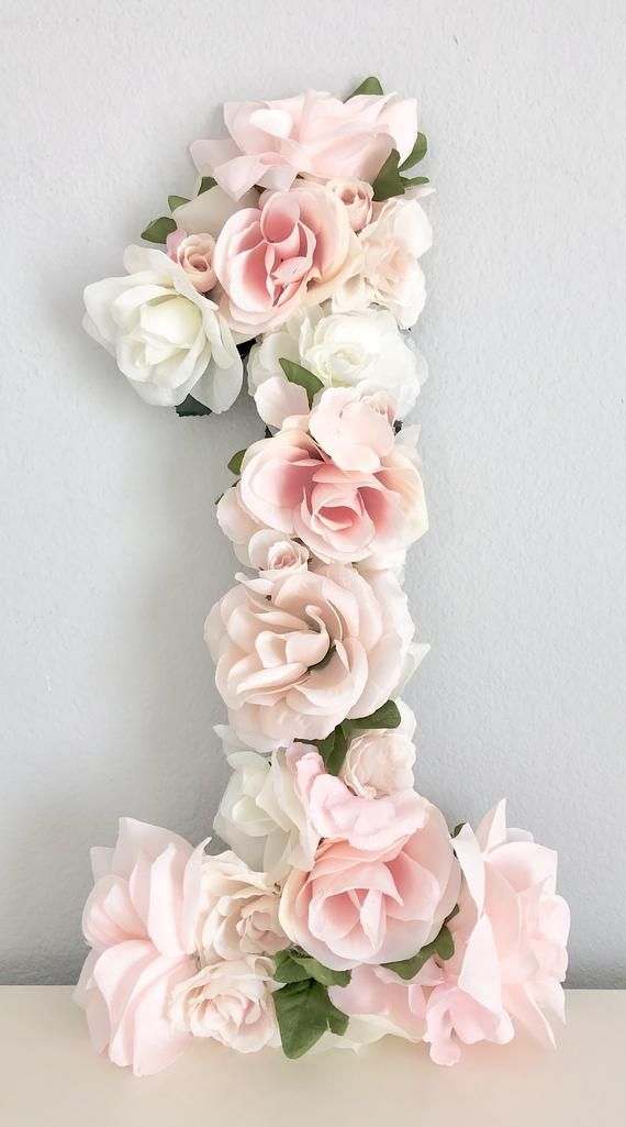 Floral Number, First Birthday Decor, Flower Number, Floral First Birthday Party Decor, Floral Party Decor, Baby First Birthday, Photo Prop