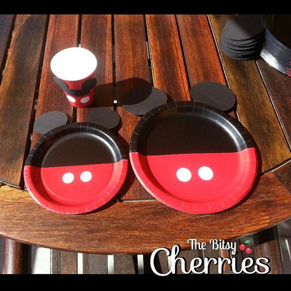 Mickey Mouse dessert plates Minnie Mouse by TheBitsyCherries & Hey I found this really awesome Etsy listing at https://www.etsy ...